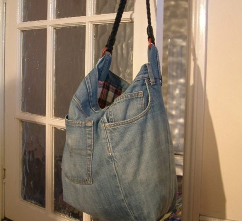 Turn your jeans into a denim hand bag