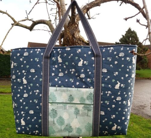 Sew a large tote bag