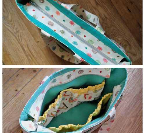 How to make a zipper panel closure on an open top bag