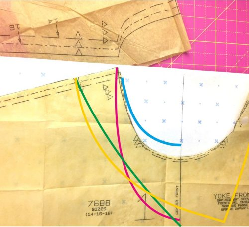 How to change the neckline on your sewing pattern