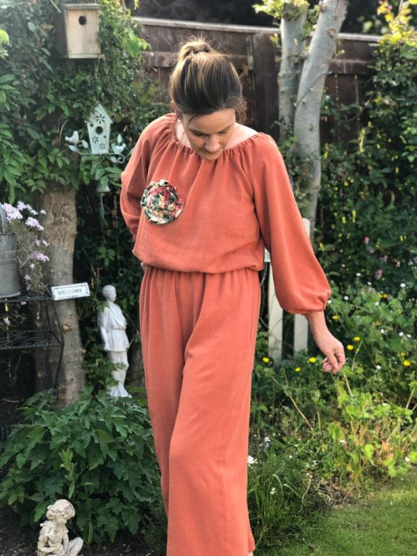 Easy jumpsuit sewing pattern for beginners