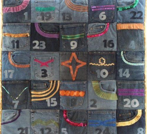 REcycled denim advent calendar project